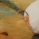 Bouee la aquarelle sur toile